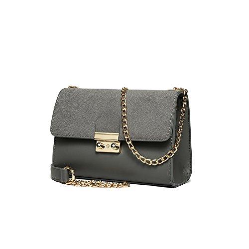 Syknb Einzelne Umhängetasche Handtasche Kette Kleine Tasche Passt Einfach Alles gray