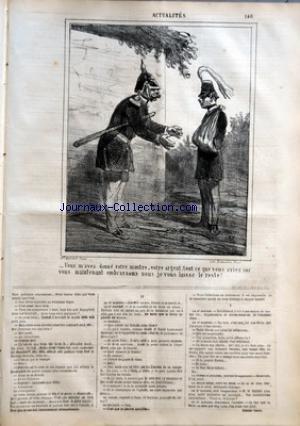 CHARIVARI (LE) du 05/09/1864 - LA SEMAINE DE LA BOURSE