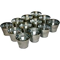 Lot de 12 cache pots en zinc