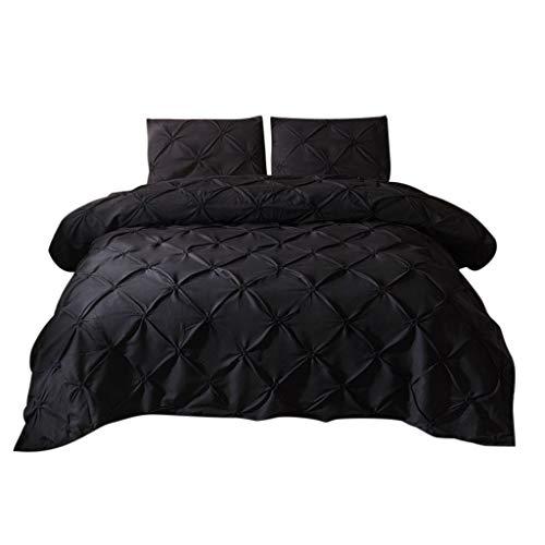 Dtuta Seidenblume Schwarzes Pigment KissenbezüGe Bettlaken Set Ganzjahr BettwäSche BettbezüGe Leicht Zu Reinigen