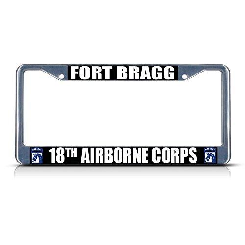 Fort Bragg 18TH Airborne Corps Armee Metall Kennzeichenrahmen Rahmen Tag Bordüre Perfekt für...