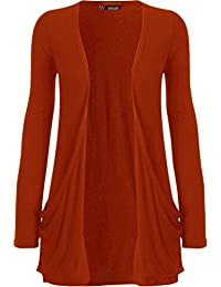 """WearAll - """"pocket"""" cardigan à manches longues - Hauts - Femme - Tailles 36-50"""