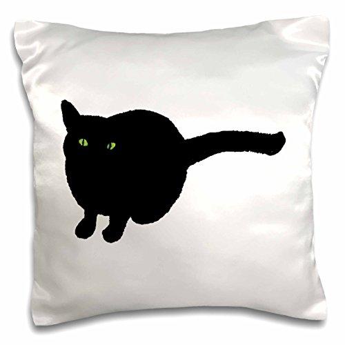 iner Katze schwarz mit grünen Augen für halloween-pillow Fall, 16von 40,6cm (PC _ 165761_ 1) (Benutzerdefinierte Halloween Shirt)