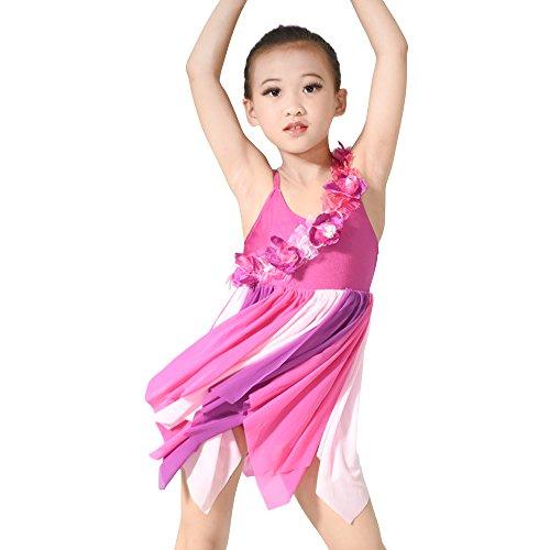 etrische Florale Hemdchen, Oder So Was Lyrischen Kleid Tanzen Kostüm (SC, Mehrfarbig) (Lyrische Kleid Dance Kostüme)