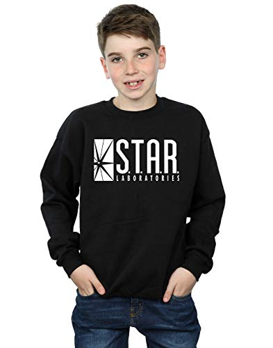 DC Comics Jungen The Flash Star Labs Sweatshirt 7-8 Years Schwarz -