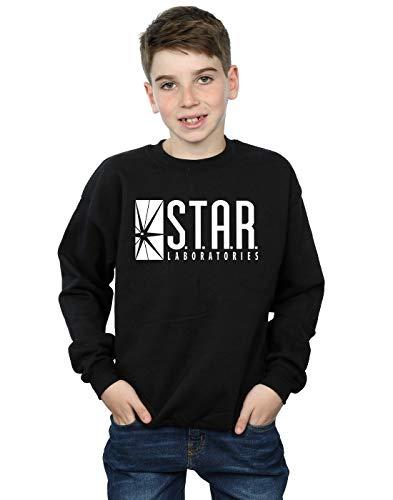 DC Comics Jungen The Flash Star Labs Sweatshirt 12-13 years Schwarz Dc-jersey Sweatshirt