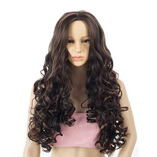 Perücke Kopfbedeckung kurzes Haar Birne Blume Locken Dunkelbraun 50-70cm