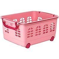 LIZHIQIANG Se Puede Apilar Grandes Juguetes De Plástico Para Niños Cesta De Almacenamiento De Escombros Cesta De Acabado ( Color : Pink )