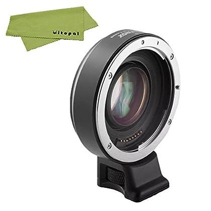 Viltrox EF-E Adaptador de enfoque automático para Canon lente de 3x ampliar apertura reducir Focus adaptador para Canon EF a Sony E-Mount APS-C cámara