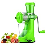 Stylelime Quality Products Fruit And Vegetable Juicer | Manual Juicer With Steel Handle | Plastic Hand Juicer | Fruit & Vegetable Juicer Hand Machine | Hand Juicer Press Without Electricity With Strong Vacuum | Power Free Hand Juicer For Home & Ki