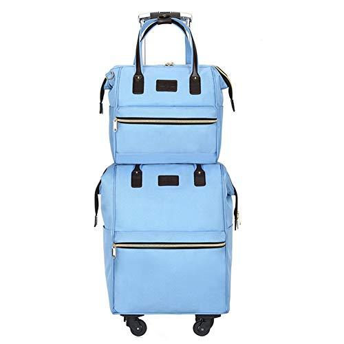 Borse da viaggio per donna borse a mano trolley a ruote borsa a tracolla trolley borsa ad alta capacità selezione di colori multipli zhangaizhen (colore : blu)
