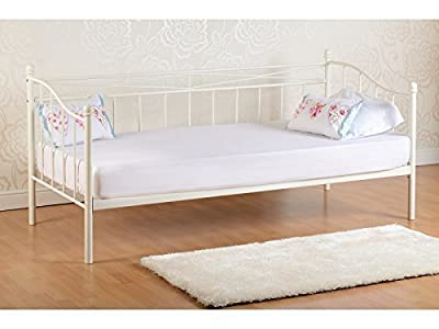 Seconique Pandora Day Bed - 3ft Single Daybed Metal - Black or Ivory produced by Seconique - quick delivery from UK.