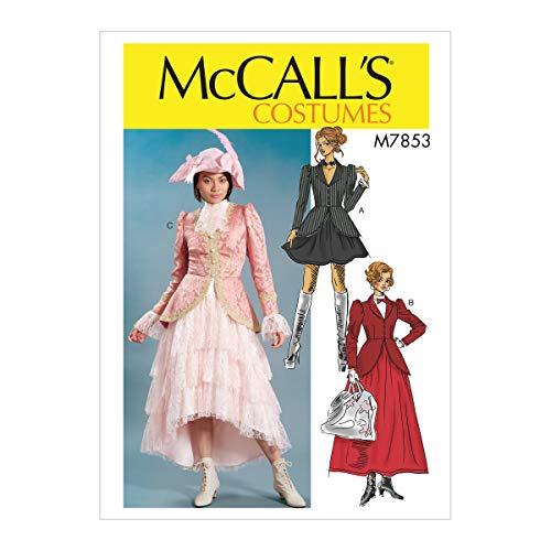 Kostüm Edwardian Muster - McCall's M7853 Schnittmuster A5, Steampunk, Mary Poppins, Damenkleid, Kostüm, Größe 39-42
