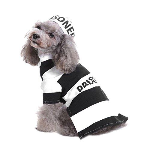 (Gefängnis Pet Kostüm für Hunde mit Hut Festival Bekleidung Kleidung von Bornbayb)