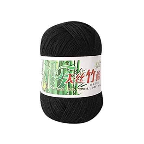 Winkey Pelote de laine à tricoter Coton bambou Chaud Naturel doux Crochet Tricot 50 g pour le tricot à la main couvertures, vêtements 28
