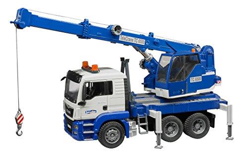 (bruder 03770 TGS Kran-LKW mit Light und Sound Modul, Fahrzeug, bunt)