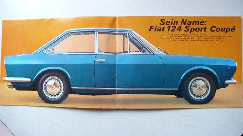 Prospekt/brochure - Fiat 124 Sport Coupe 1400 - Original 1400 Coupe