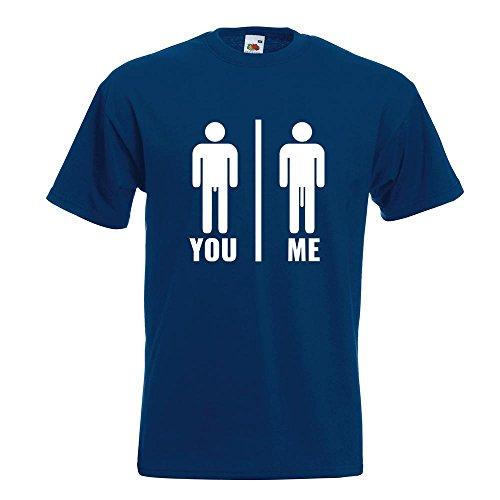 KIWISTAR - You vs. Me - Längenvergleich T-Shirt in 15 verschiedenen Farben - Herren Funshirt bedruckt Design Sprüche Spruch Motive Oberteil Baumwolle Print Größe S M L XL XXL Navy
