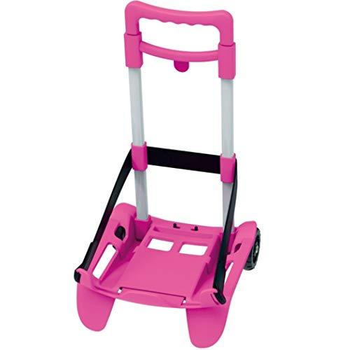 Carrello Seven BE Box Trolley Top Porta Zaino Rosa Regolabile Pieghevole + Omaggio portachiave girabrilla