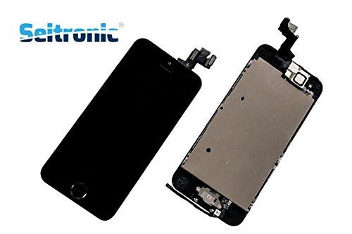 Seitronic Display für iPhone 5S LCD VORMONTIERT KOMPLETT mit RETINA Touchscreen -SCHWARZ - BLACK- (5c-screen-ersatz)
