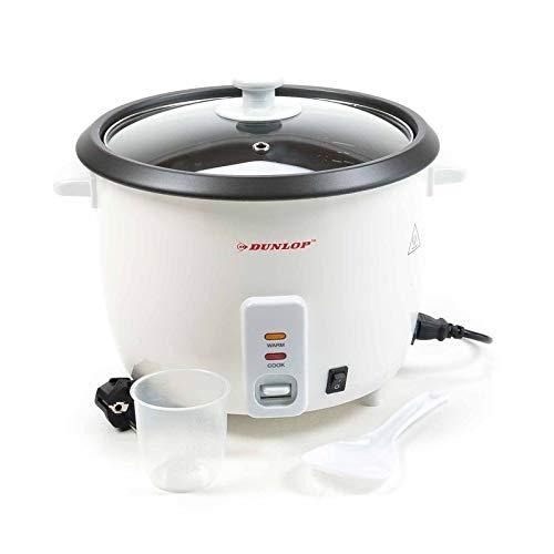 Dunlop CFX30 Reiskocher Dampfgarer groß 1,8 L, 3in1 Gerät - Reiskocher, Risottokocher, Gemüsegarer, Multikocher für bis zu 6 Personen, Risotto Topf, Dämpfeinsatz, Reistopf für alle Reisarten +1kg Reis