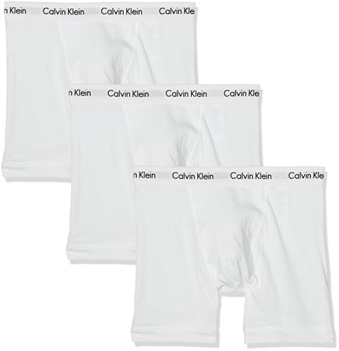 Briefs Weißen Boxer (Calvin Klein Herren Hüft-Shorts 3p Boxer Brief, 3er Pack, Weiß (White 100), Medium)