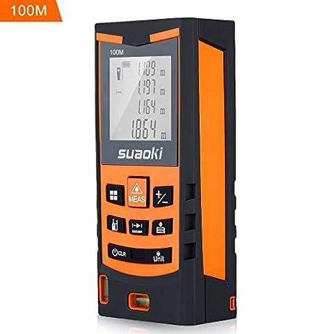 Suaoki S9 100m Laser Measure Digital Distance Meter with 2