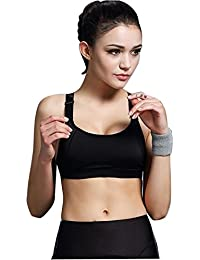 Sport-BH HARRYSTORE Mujer sosténes deportivas de yoga Ropa interior Push Up Camisetas sin mangas para correr Fitness