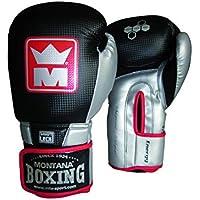 Montana 45197–Guantes de Boxeo Unisex, Color Negro/Plata
