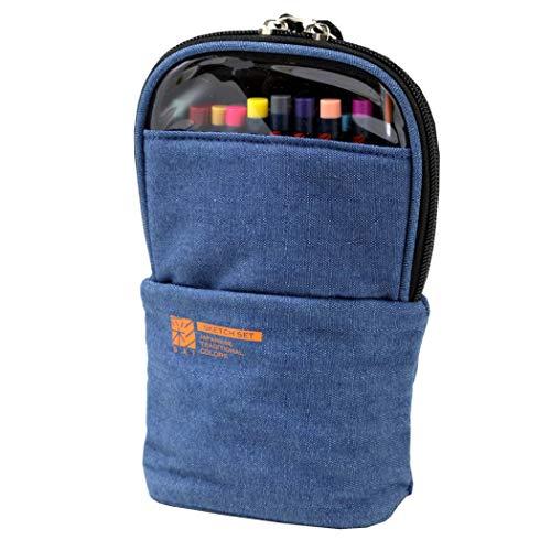 Akashiya Sai Watercolor Brush Pen & Drawing Set w/ Denim Bag Brush-denim