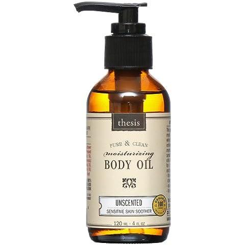 Aceite corporal hidratante, la piel sensible Chupete, sin perfume - Tesis