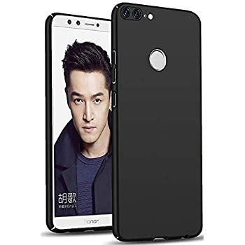 TheGiftKart Ultra Slim 360* Matte Velvet Feel Hard Back Cover for Honor 9 Lite (Jet Black)
