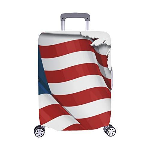 Us Flagge Karte Inner Shadow Pattern Spandex Staubschutz Trolley Protector case Reisegepäck Beschützer Koffer Abdeckung 28,5 X 20,5 Zoll Flagge Protector Case