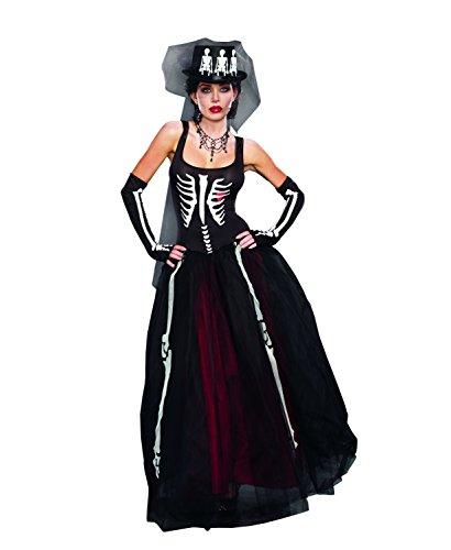 Dreamgirl 9903MS Knochen Kostüm (groß)