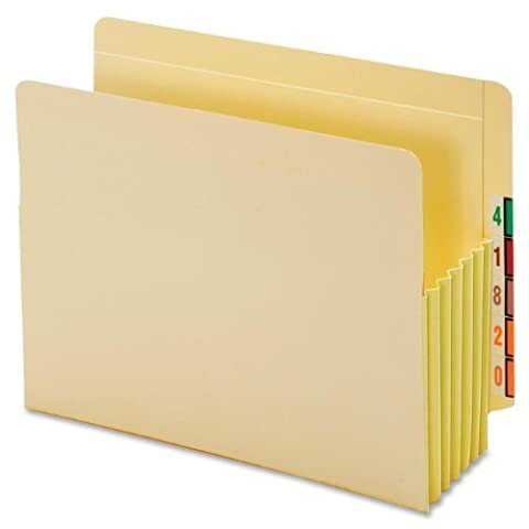 Globe-Weis End Tab File Pockets, 5.25-Inch Expansion, Tyvek Gussets, Letter Size, Manila, 10 Pockets Per Box