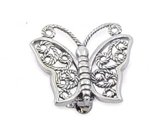 Sterling Silver Filigree Butterfly Brooch,