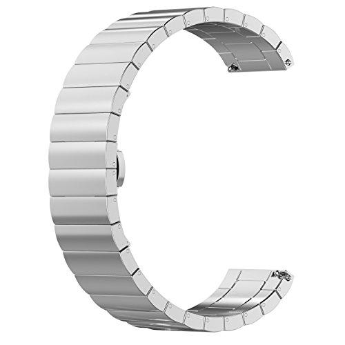 chofit Ersatz Metall Business Armband Gurte für 22mm Breite Uhr, Type 1-Silver