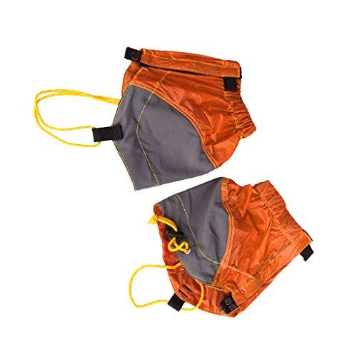 Nylon Magideal Esterne Impermeabili Ghette Caviglia Passeggiate Trekking Arancione