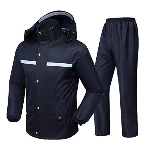 Regenanzug für Männer und Frauen Wiederverwendbare Regenkleidung (Regenjacke und Regenhosen Set) Erwachsene wasserdicht regendicht Winddicht mit Kapuze (größe : XL)