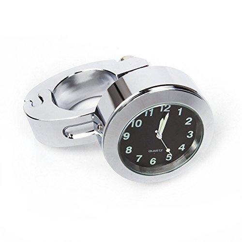 """Suntime Universal Wasserdichte Uhr, Motorrad Lenkerhalterung Uhr Fit 7/8 \""""oder 1\"""" Lenkeruhr für Motorrad / Roller / Radfahren"""