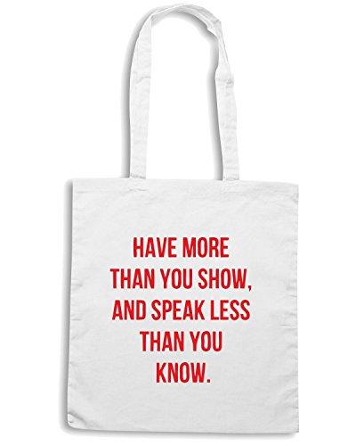 T-Shirtshock - Borsa Shopping CIT0096 have more than you show Bianco