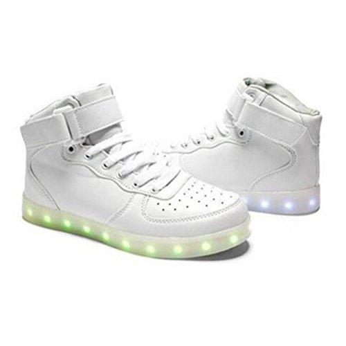[+Kleines Handtuch]Kinderschuhe USB Lade Licht Jungen emittierende Schuhmädchenschuh leuchtende LED beleuchtete Sportschuhe großer Junge Sc c11