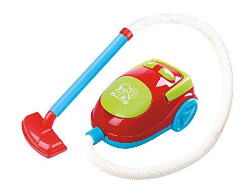 PlayGo 3462 Kinder Staubsauger mit Sound und echter Funktion rot blau