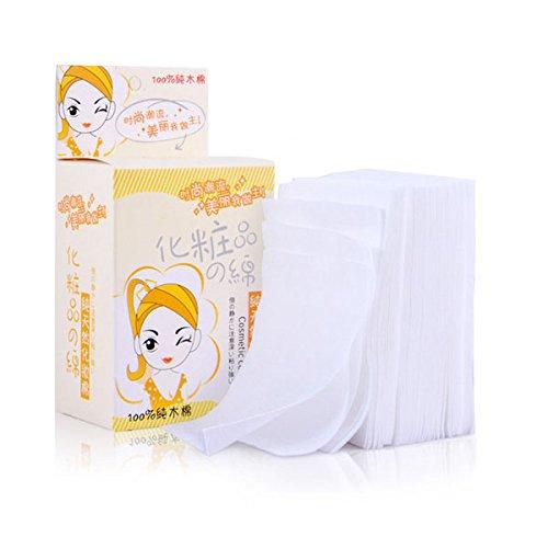 100X Tampons pour Nettoyer du Gel Manucure d'Ongle Lin Coton de Nettoyage Cosmétique Tampon de Démaquillage