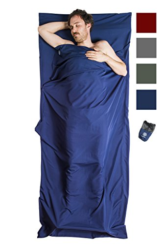 Bahidora Hüttenschlafsack, Schlafsack Inlett. Mikrofaser Schlafsack, InlaySchlafsack, Sommerschlafsack, Reiseschlafsack