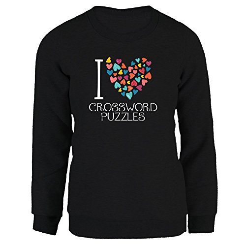 Idakoos I love Crossword Puzzles colorful hearts - Ocio - Sudadera Mujer