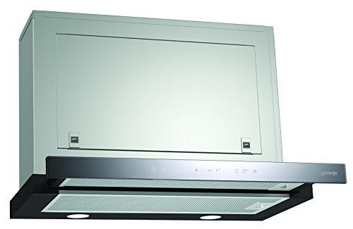 Boden-vent (Gorenje BHP 643 A5BG Flachschirmhaube / 60 cm/Ab- oder Umluftbetrieb möglich/TouchControl-Bedienung auf Glas, edelstahl)