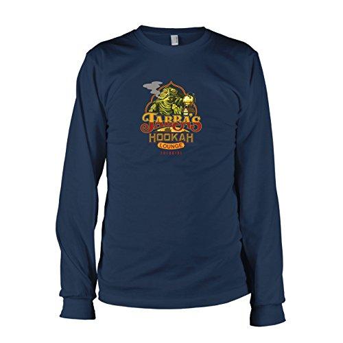 TEXLAB - SW: Jabba's Lounge - Herren Langarm T-Shirt, Größe L, dunkelblau (Jabba Kostüm)