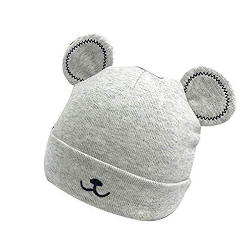 Daliuing berretto invernale berretto in cotone berretto orsetto orecchie a patta berretto lavorato a maglia cappello bimbo bambina (3-6 mesi)