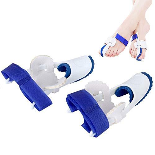 ZYJFP Zehe-Korrektur-Massager, Silikon-Zehe Valgus-Daumen-Korrektur-Gurt, Fuß-Knochen-Massager, Blau - Blauer Massager